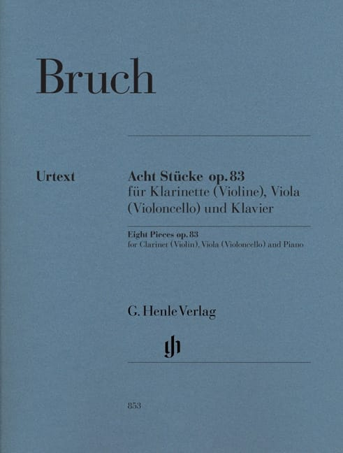 Max Bruch - 8 Stücke Opus 83 - Partition - di-arezzo.co.uk