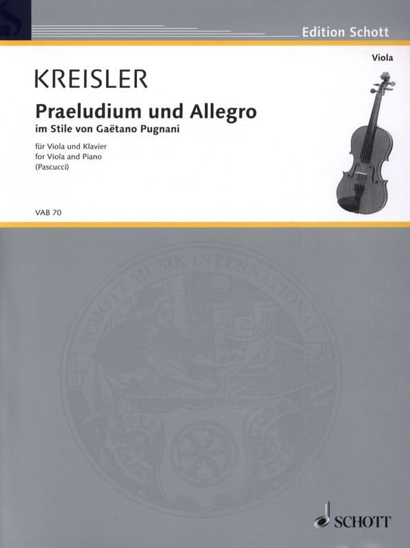 Prélude et Allegro Dans le Style De Pugnani - laflutedepan.com