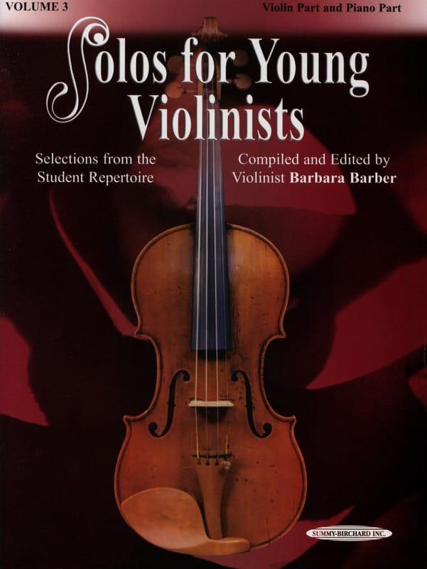 Solos for Young Violinists vol 3 - Barbara Barber - laflutedepan.com