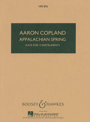 Aaron Copland - Appalachian Spring - Partition - di-arezzo.co.uk