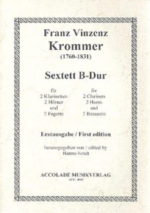 Sextuor à Vents B-Dur - KROMMER - Partition - laflutedepan.com