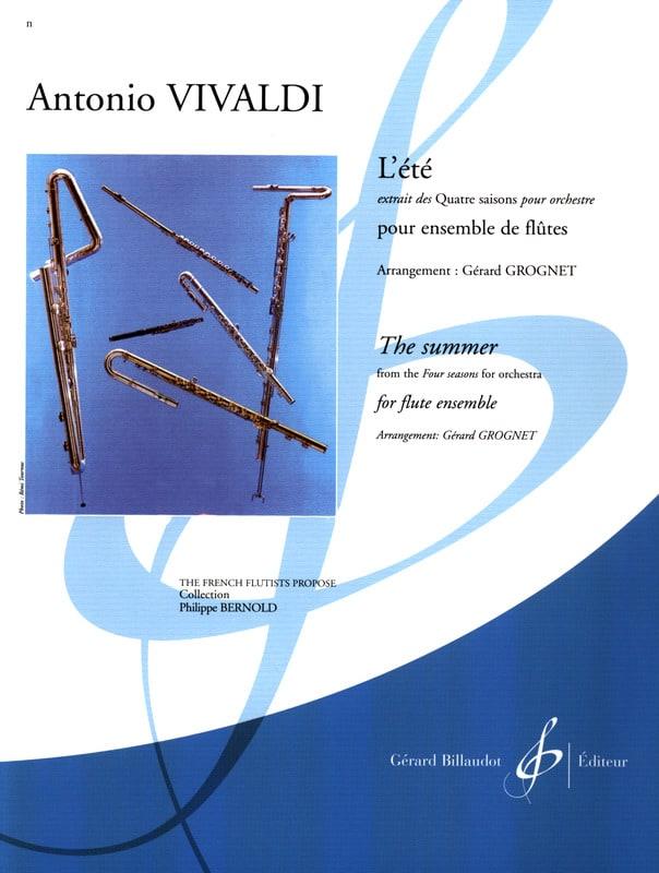 L'été - Ensemble De Flûtes - VIVALDI - Partition - laflutedepan.com