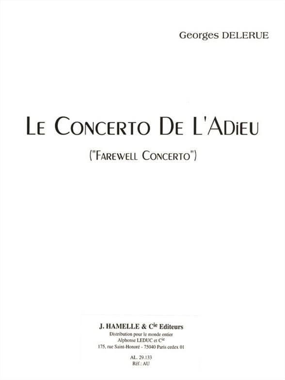 Georges Delerue - Farewell Concerto - Partition - di-arezzo.co.uk