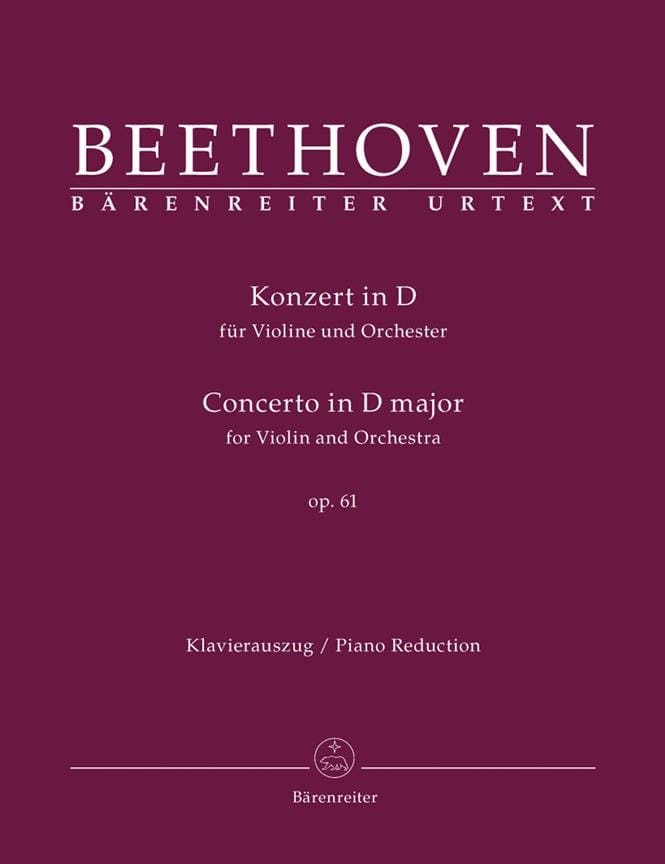 BEETHOVEN - Concerto in D Maj. Op.61 - Partition - di-arezzo.co.uk