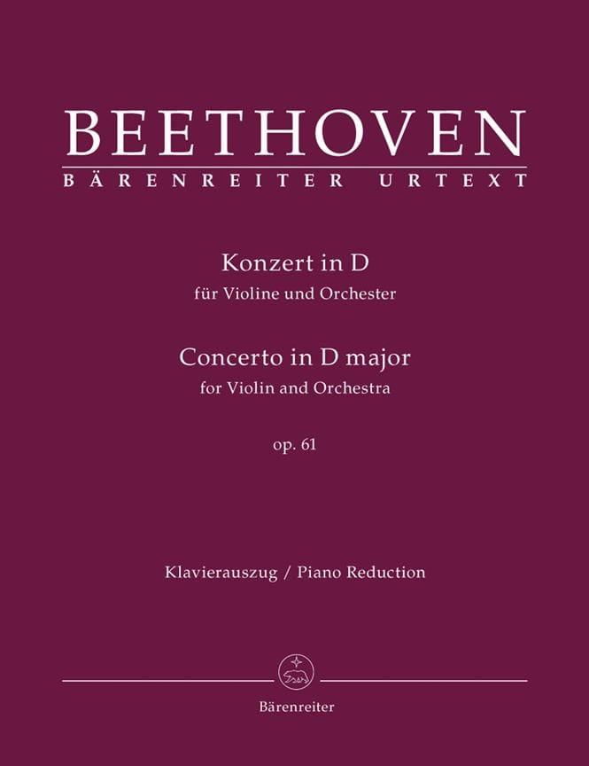 BEETHOVEN - Concerto en Ré Maj. Op.61 - Partition - di-arezzo.fr