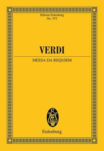 Requiem - VERDI - Partition - Petit format - laflutedepan.com