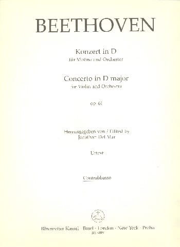 BEETHOVEN - Violin Concerto in Re Op. 61 - Equipment - Partition - di-arezzo.com