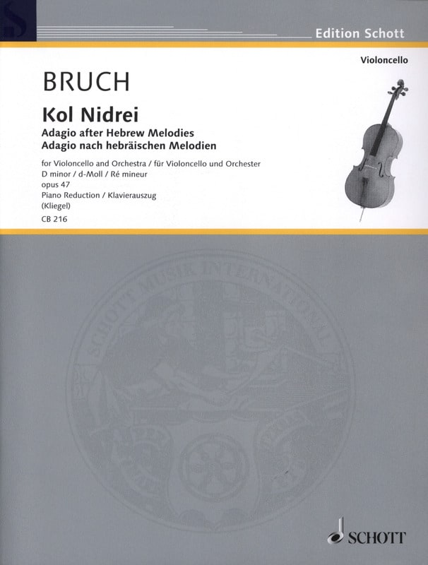 Max Bruch - Kol Nidrei Op. 47 in D Min. - Partition - di-arezzo.co.uk
