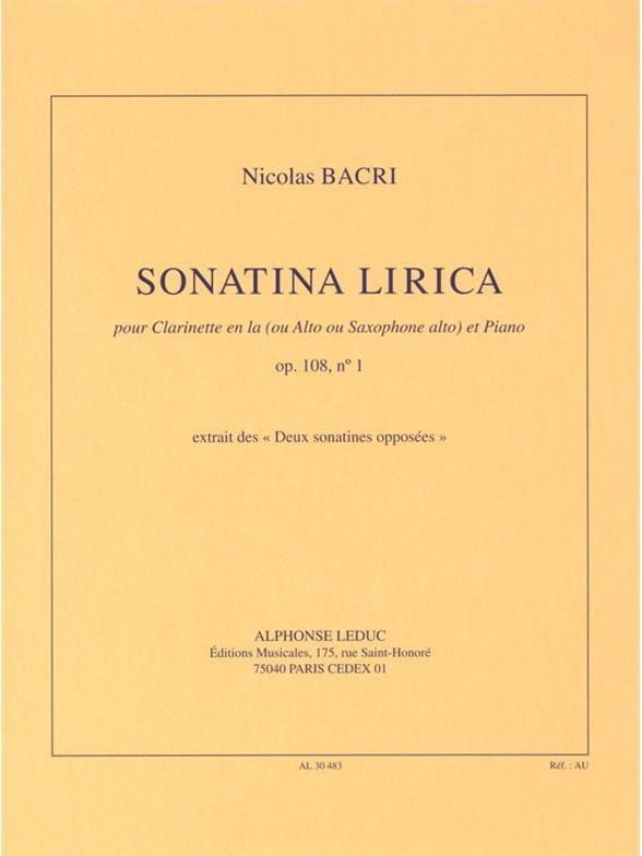 Sonatina Lirica Op.108 N°1 - Nicolas Bacri - laflutedepan.be