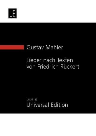 Gustav Mahler - Lieder Nach Texten von Friedrich Rückert - Partition - di-arezzo.co.uk