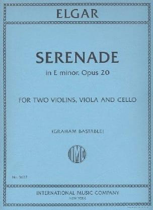 Sérénade En Mi Min. Op.20 - ELGAR - Partition - laflutedepan.com