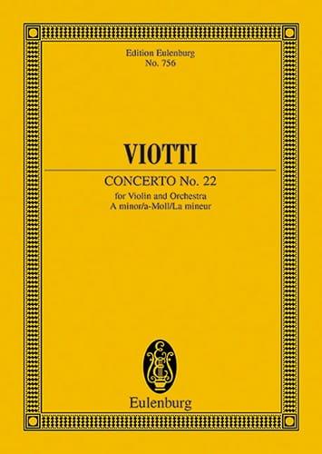 Violin-Konzert Nr. 22 a-moll - VIOTTI - Partition - laflutedepan.com