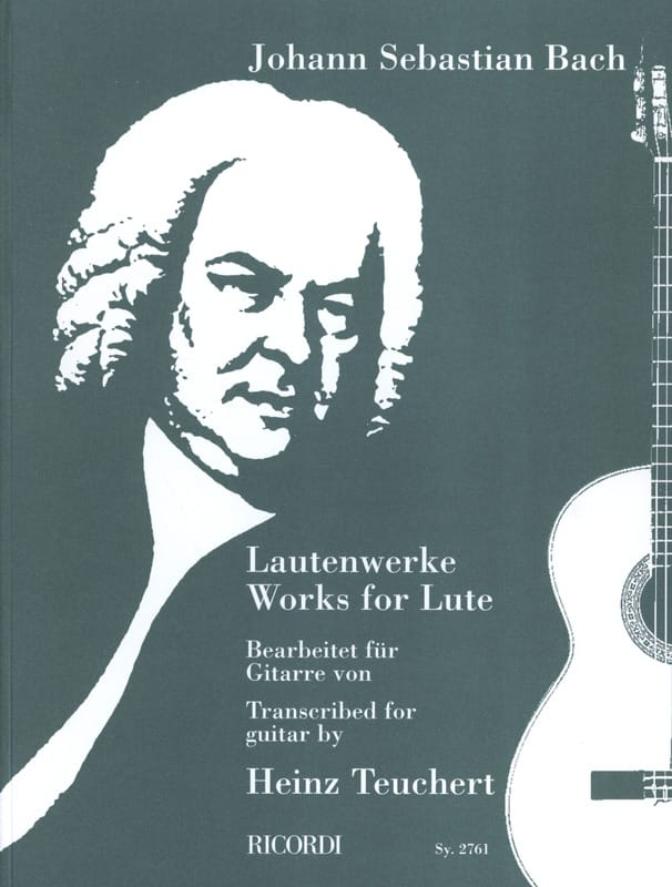 BACH - Lautenwerke Bearbeitet for Gitarre von Heinz Teuchert - Partition - di-arezzo.co.uk