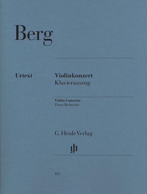 Concerto Pour Violon 1935 - BERG - Partition - laflutedepan.com