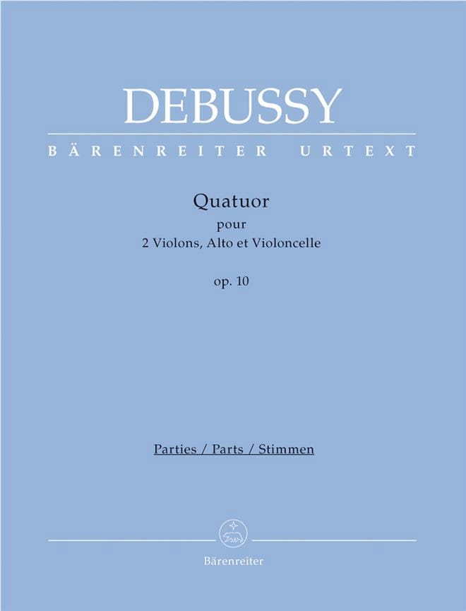 DEBUSSY - String Quartet Op. 10 - Partition - di-arezzo.co.uk