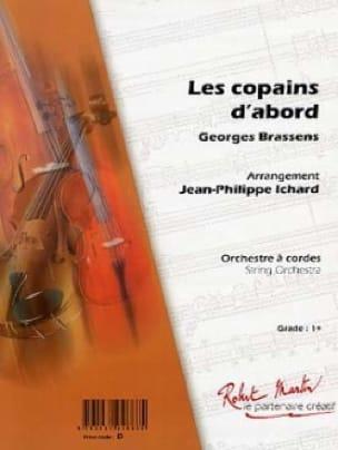 Les Copains D'abord - Georges Brassens - Partition - laflutedepan.com