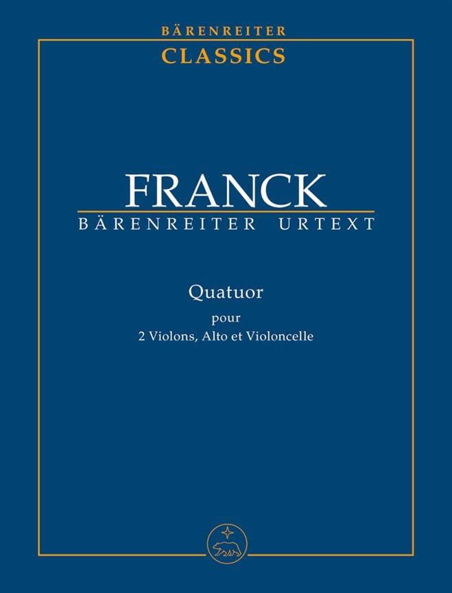 César Franck - String Quartet - Partition - di-arezzo.co.uk