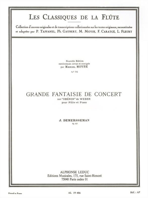 Jules Demersseman - Great fantasy concert op. 52 - Partition - di-arezzo.co.uk