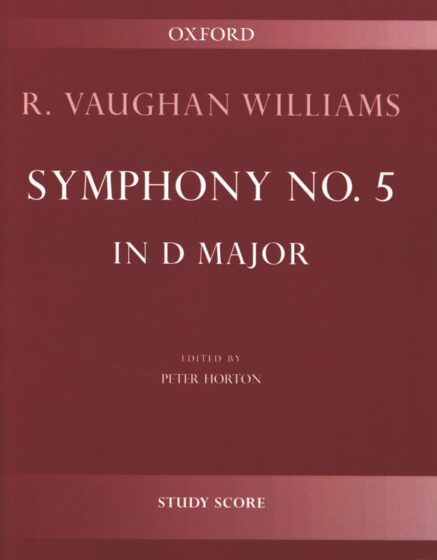 Williams Ralph Vaughan - Symphony No. 5 in D Major - Partition - di-arezzo.com