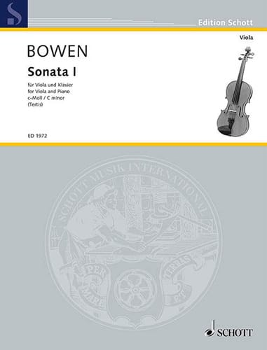 Edwin York Bowen - Sonata N ° 1 in C minor - Partition - di-arezzo.com