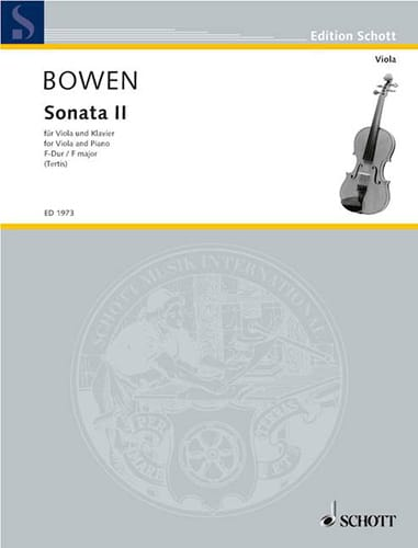 Edwin York Bowen - Sonata N ° 2 in F Major - Partition - di-arezzo.com