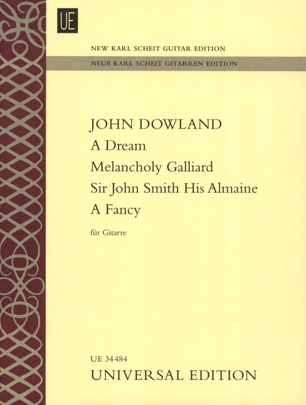 John Dowland - A Dream - Melancholy Galliard - Sir John Smith His Almaine - A Fancy - Partition - di-arezzo.com