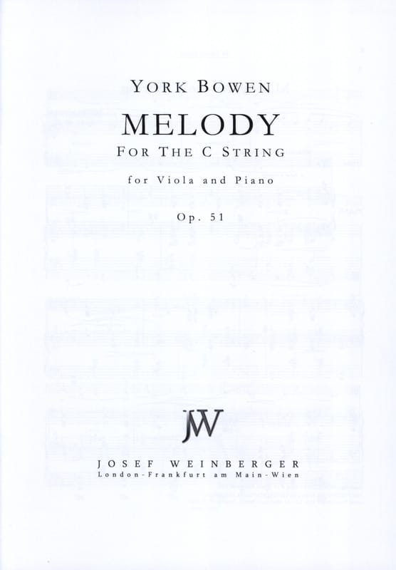 Edwin York Bowen - Melody Op. 51 - Partition - di-arezzo.com