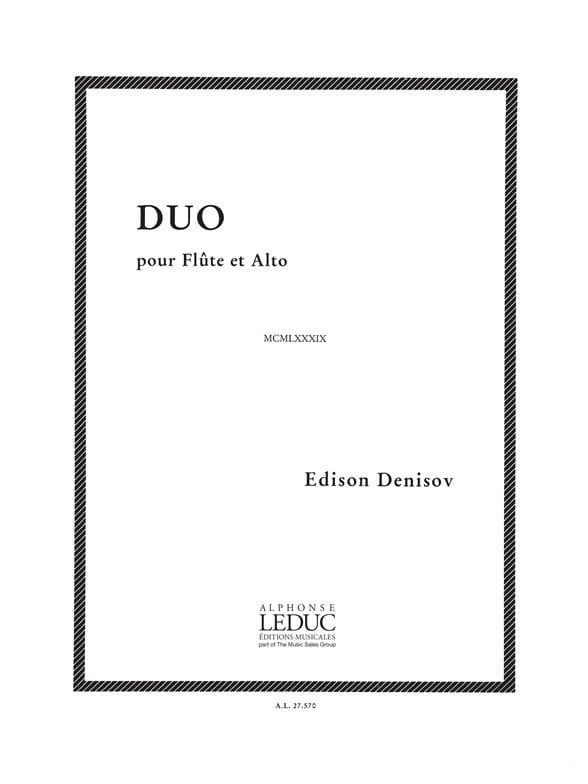 Duo - Flûte et alto - Edison Denisov - Partition - laflutedepan.com