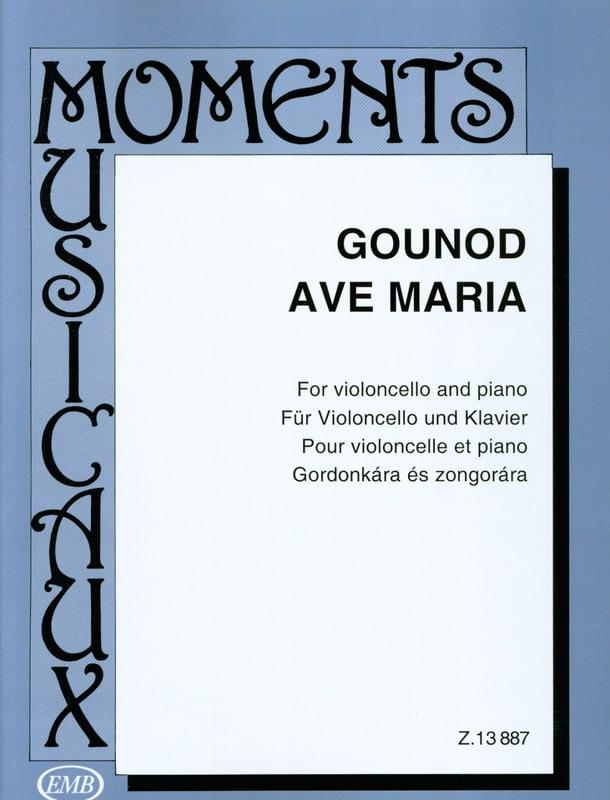 Ave Maria - GOUNOD - Partition - Violoncelle - laflutedepan.com