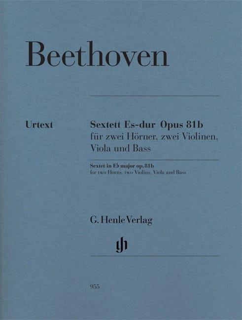 Sextuor en Mi bémol majeur op. 81b - BEETHOVEN - laflutedepan.com