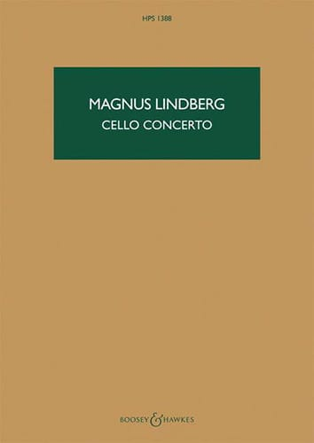 Cello Concerto - Magnus Lindberg - Partition - laflutedepan.com