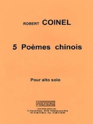 5 Poèmes Chinois - Robert Coinel - Partition - Alto - laflutedepan.com