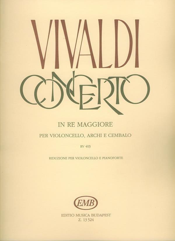 Concerto En Ré Maj. - Rv.403 - VIVALDI - Partition - laflutedepan.com