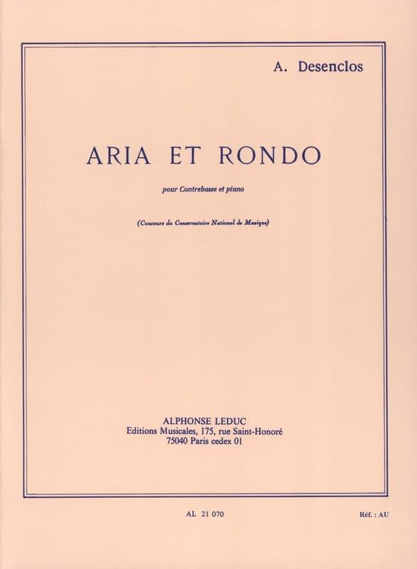 Alfred Desenclos - Aria and Rondo - Partition - di-arezzo.co.uk