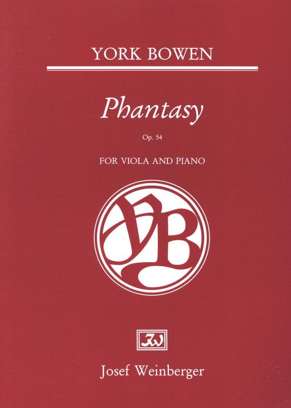 Edwin York Bowen - Phantasy Op. 54 - Partition - di-arezzo.fr