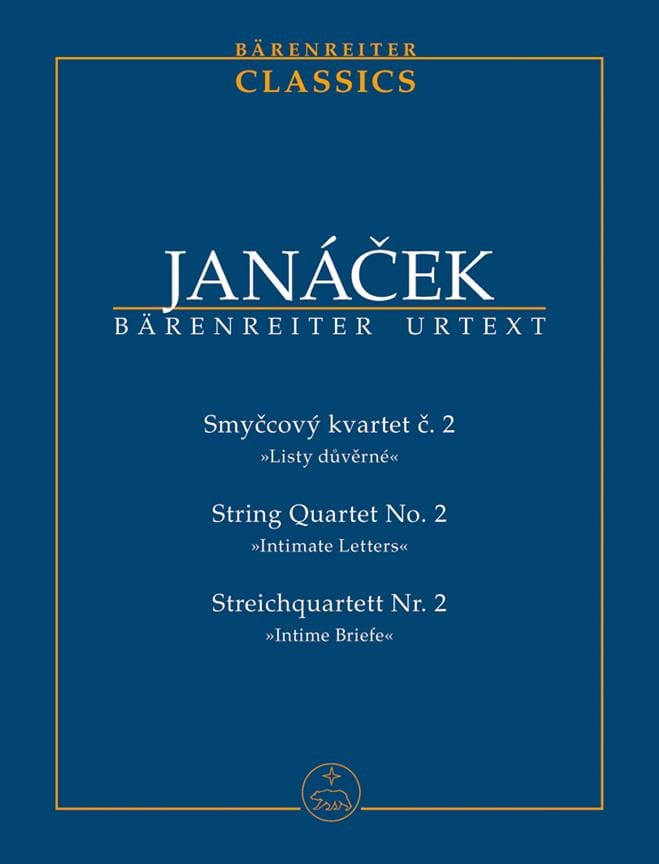 Leos Janacek - String Quartet N ° 2 Private Letters - Partition - di-arezzo.co.uk