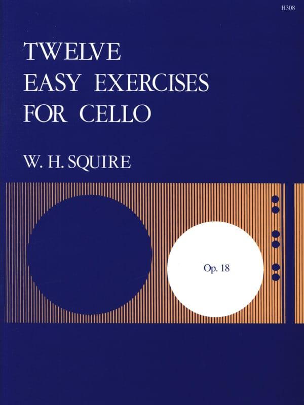 12 Easy Exercises Op.18 - Squire W. H. - Partition - laflutedepan.com