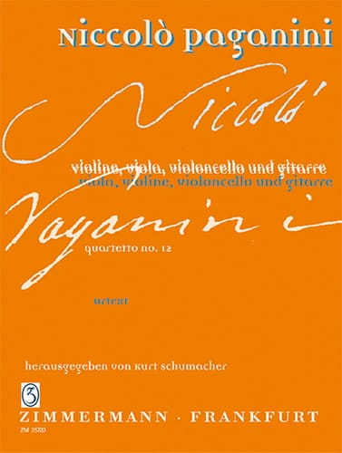 Quartetto N°12 En la Min. - PAGANINI - Partition - laflutedepan.com