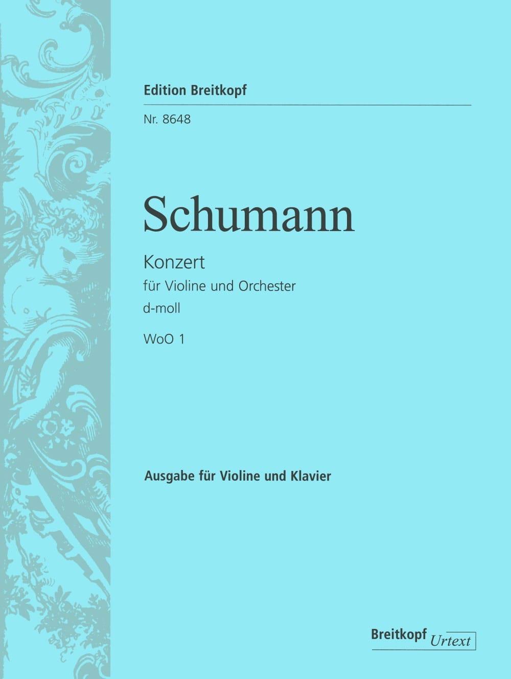 Concerto En Ré Min. WoO1 - SCHUMANN - Partition - laflutedepan.com