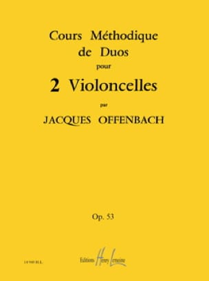 Jacques Offenbach - Cellos Duets Course Op 53 Books 1.2 and 3 - Partition - di-arezzo.com