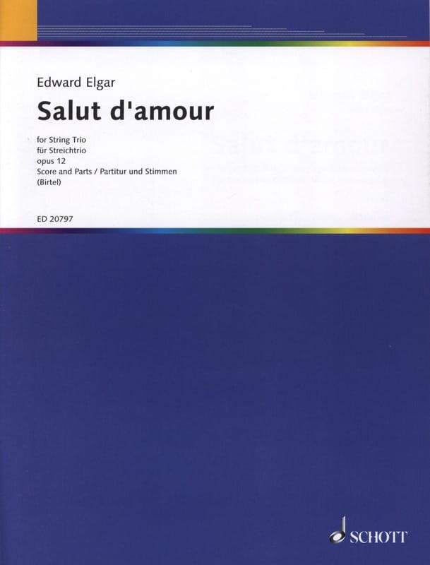 Salut D'amour Op.12 Trio cordes - ELGAR - Partition - laflutedepan.com