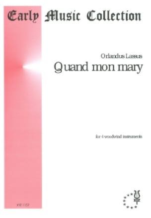 Quand Mon Mary - Orlando Lassus - Partition - laflutedepan.com