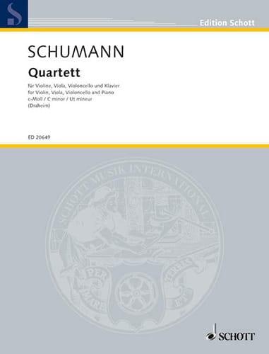 SCHUMANN - C minor quartet - Partition - di-arezzo.co.uk