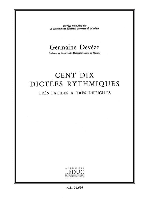 110 Dictées Rythmiques - Germaine Devèze - laflutedepan.com