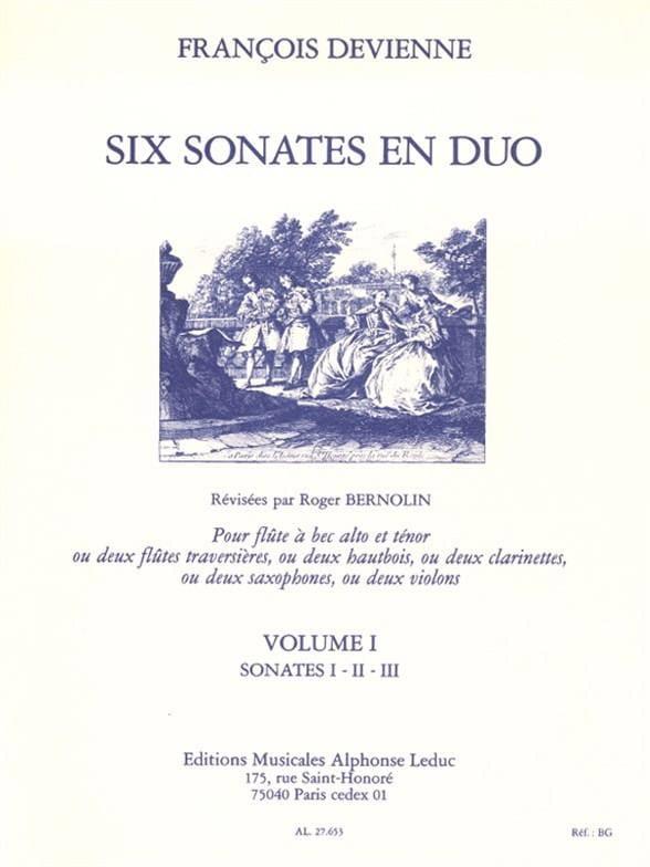 6 Sonates en duo Volume 1 - 2 Flûtes à bec - laflutedepan.com