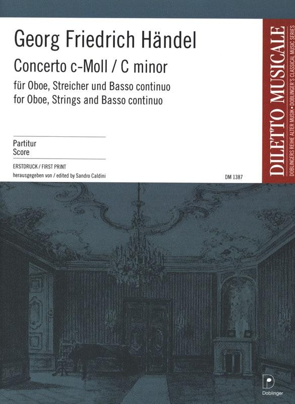 Concerto En Do Min. - HAENDEL - Partition - laflutedepan.com