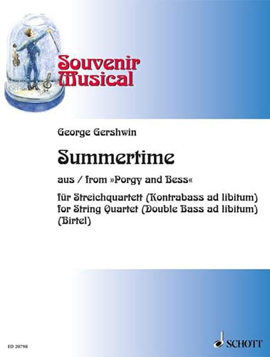 George Gershwin - Summertime Extr. Porgy And Bess - Partition - di-arezzo.com