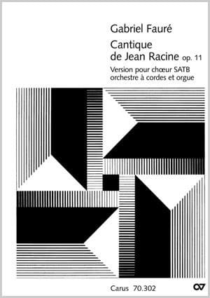 Gabriel Fauré - Song of John Racine Op. 11 - Version with Orch. stringed - Partition - di-arezzo.com