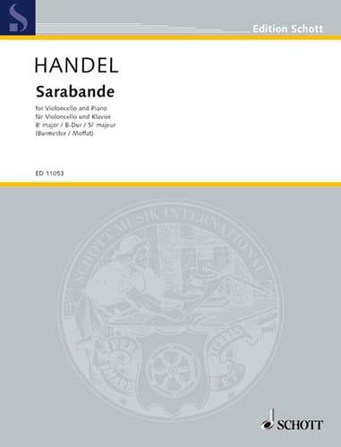 HAENDEL - Saraband - Partition - di-arezzo.com
