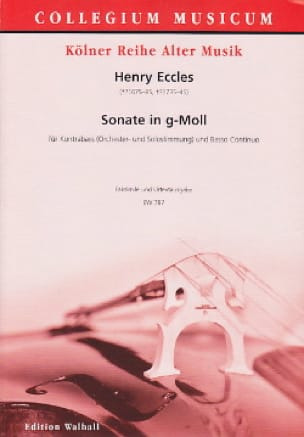 Henry Eccles - Sonata in G minor - Partition - di-arezzo.co.uk